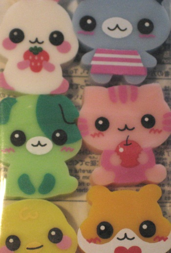 cute animal eraser top Cute Japanese Items
